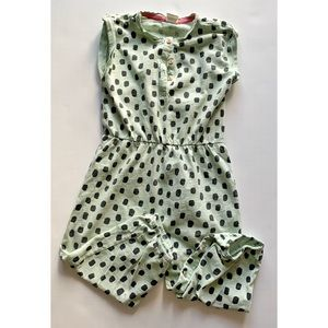 Toddler Girl- mint green and black  pant romper
